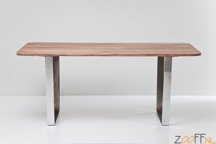 Kare Design Bilbao Tafel - De Kare Design Bilbao Tafel is een stijlvolle designtafel van Kare Design. Het tafelblad van de Bilbao Tafel is gemaakt van sheesham hout en is gevestigd op een verchroomd ijzeren onderstel. De designtafel is inzetbaar voor diverse doeleinden en is een echte eyecatcher binnen ieders interieur.
