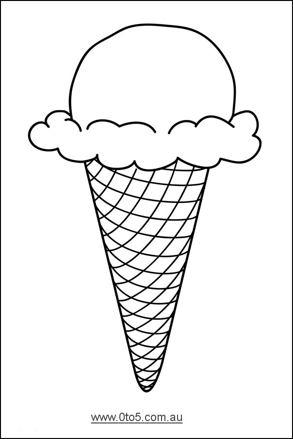 0to5.com.au - Ice Cream Cone template suitable for young