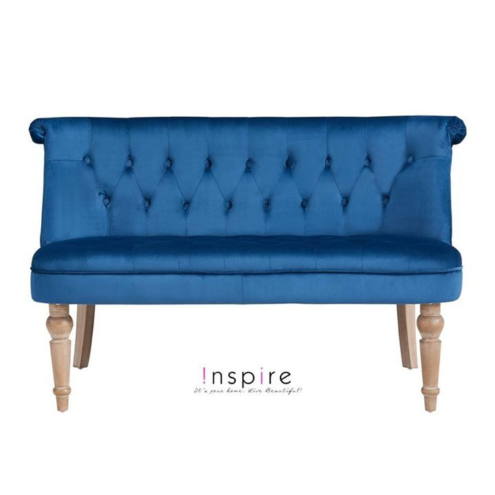 The French-inspired Malika Settee in blue is perfect for Versailles, or for your living room...  http://worldwidehomefurnishingsinc.com/malika-settee-in-blue.html