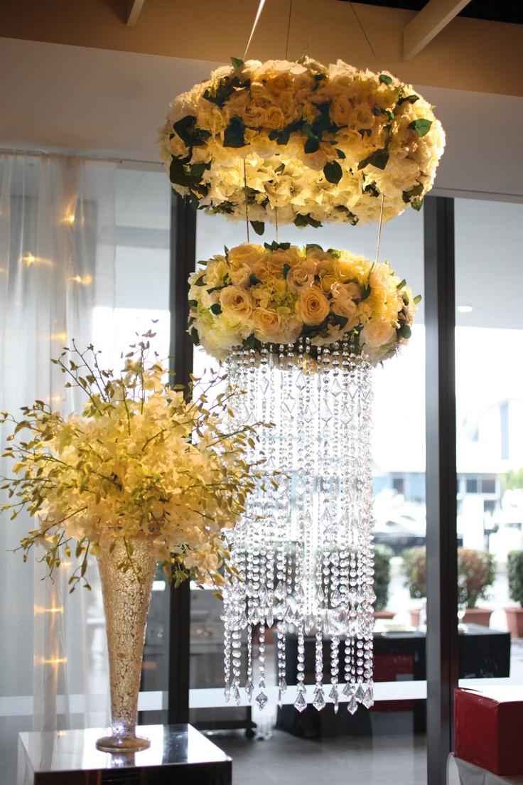 Hanging #chandeliers http://www.doltonehouse.com.au/blog/sydney-wedding-venue-with-wow-factor/