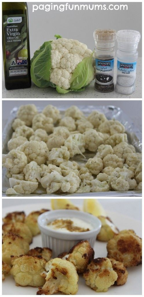 Crunchy Cauliflower Bites - totally delicious & healthy snacks that are great for the lunchbox, party food, after school snack or as a side for dinner! Mmmmmmm!
