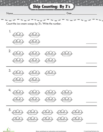Number Names Worksheets skip counting by 3 worksheets : 1000+ images about CC Math on Pinterest | Count, Area of a circle ...