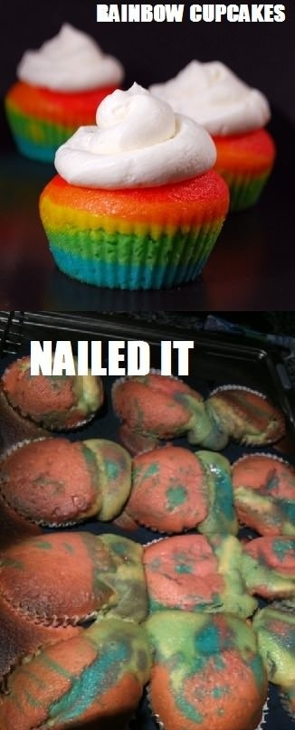 HaHa!Nailed it!  This is what would happen if i didn't pay someone to bake for me! lol