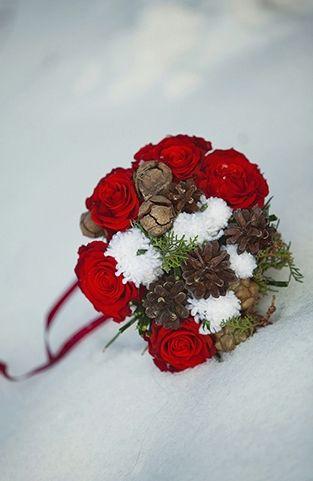 #букет_невесты для зимней свадьбы :немного сказки, волшебства и много любви :)