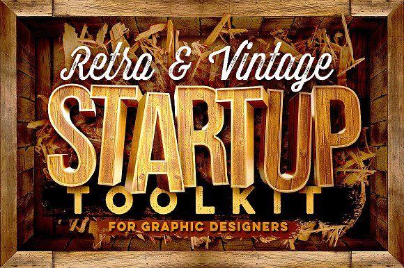 Retro & Vintage Startup Toolkit by Cruzine on @creativemarket