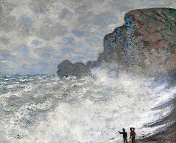 Pintura del mar de Monet