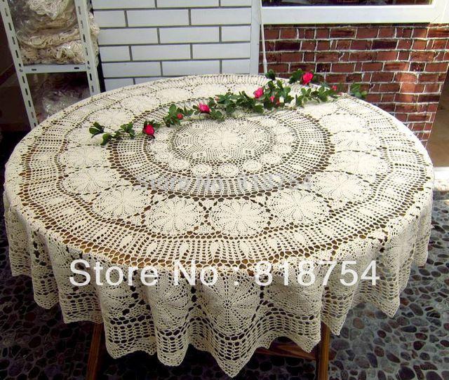 Свадьба скатерть ручной крюк-иглы крючком скатерть мода старинные американский деревенский 100% вырез большой круглый обеденный стол