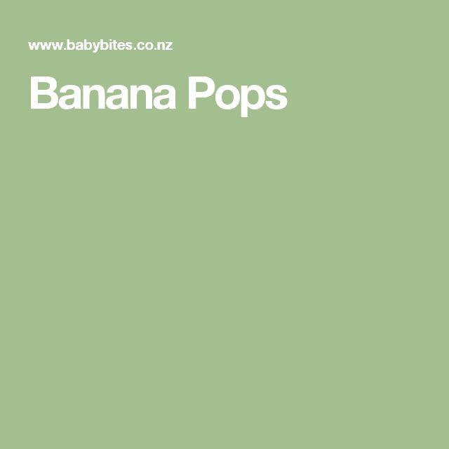 Banana Pops