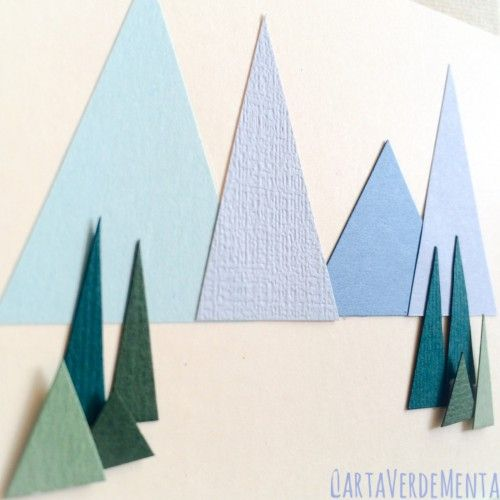 Card con paesaggio di montagna  di CartaVerdeMenta  #card #papercraft #papercrafts #stamping #auguri #mountains #crafting #DYI # hobby