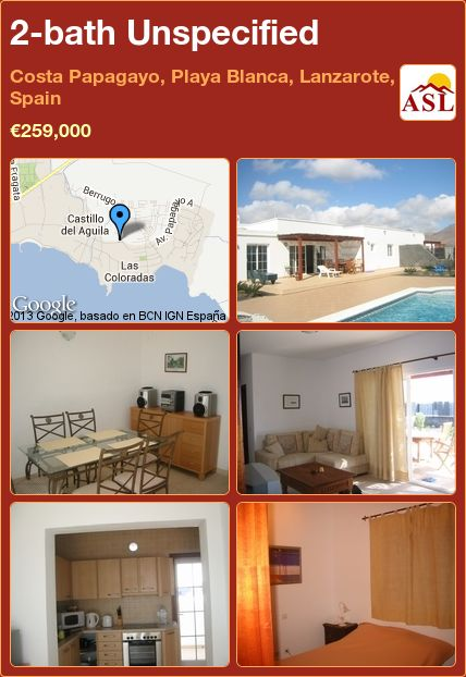 2-bath Unspecified in Costa Papagayo, Playa Blanca, Lanzarote, Spain ►€259,000 #PropertyForSaleInSpain