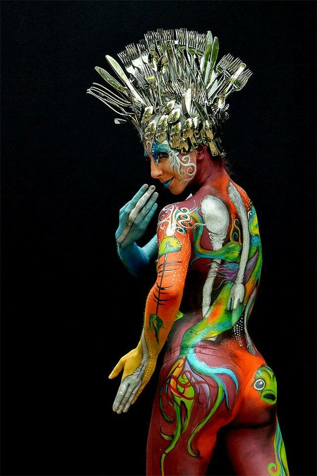 Best Body Painting Images On Pinterest Body Painting - Artist turns humans amazing animal portraits using body paint