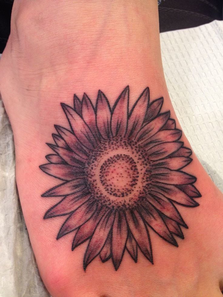 aster flower tattoos | Black Flower Tattoos – Designs and Ideas