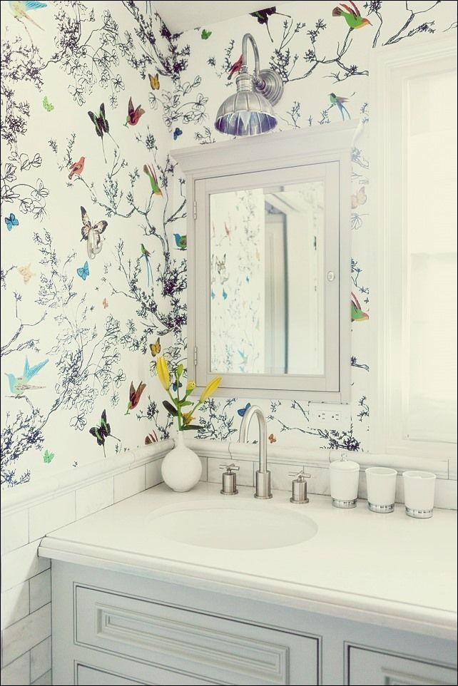 30 Wunderschone Tapezierte Badezimmer Badezimmer Tapete Badezimmerspiegel Badezimmer Dekor