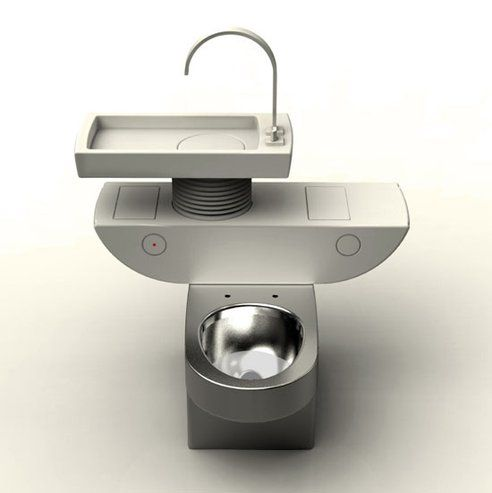 Grey water recycling toilet