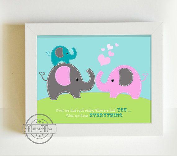 Elephant  Nursery  Decor  Nursery or Toddler Room by MuralMAX, $20.00