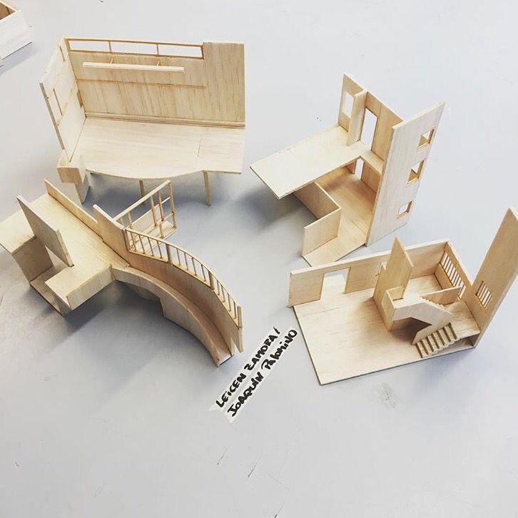 Despiece de obra del referente, en este caso Ville La Roche de Le Corbusier. (1:50)