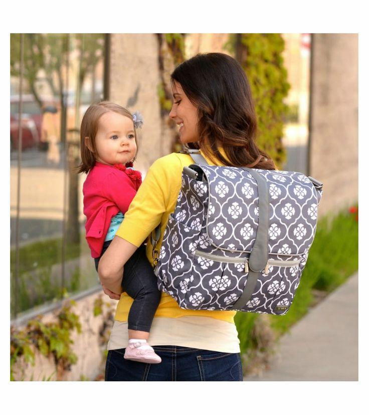 jj cole backpack diaper bag gray floret baby pinterest backpack diaper bags bags and gray. Black Bedroom Furniture Sets. Home Design Ideas