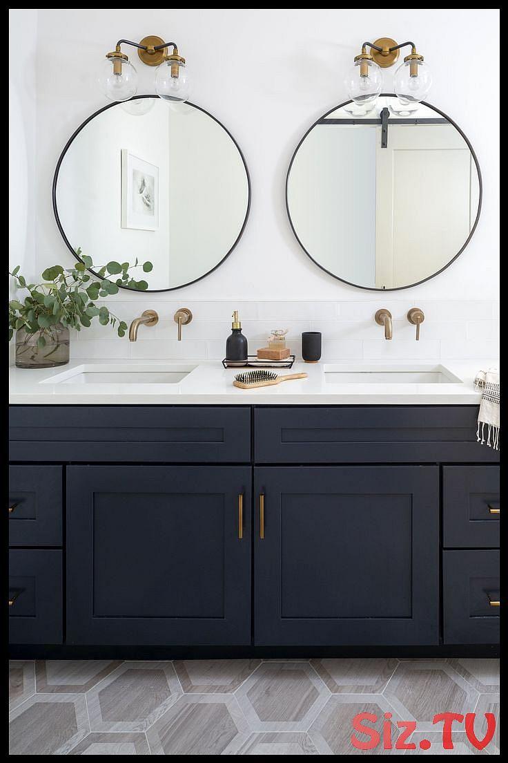 Badezimmerspiegel F Doppelwaschbecken