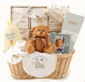 Neutral Baby Gift Basket!