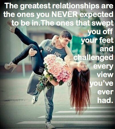The greatest relationships are the ones you NEVER expected!