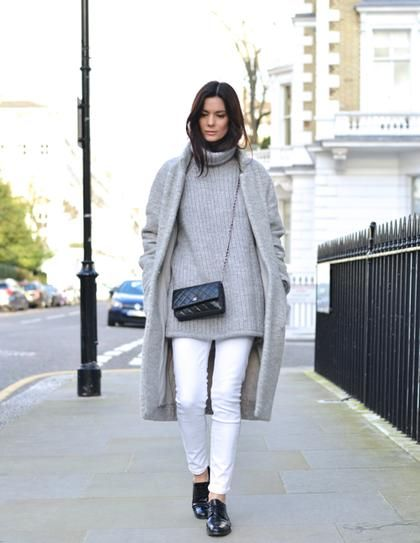 56 best How to wear White in Winter images on Pinterest | Shoes ...
