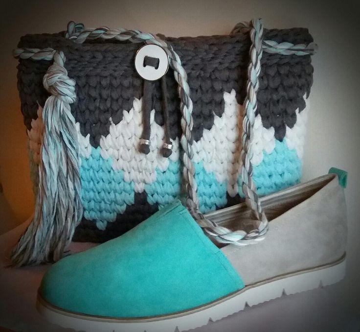 ''ARTemis'' crochet shoulder bag 100% cotton  machine washable  by Passionis_handmade_accessories