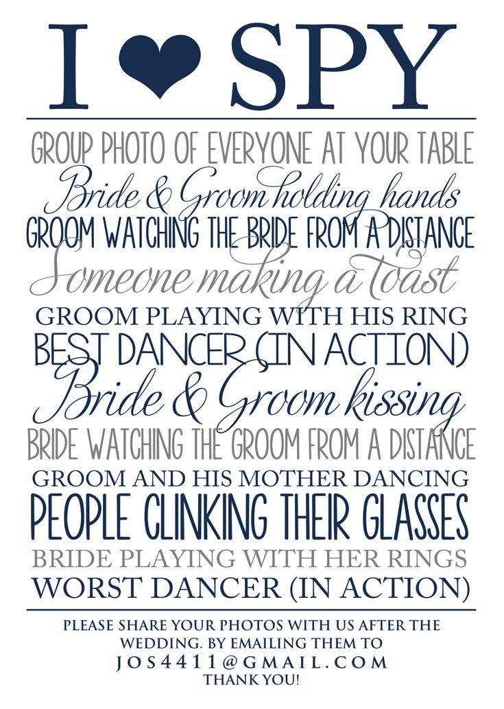 i spy wedding template - Google Search