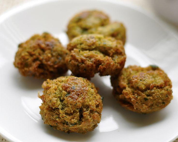Balls of falafel, crunchy and golden.