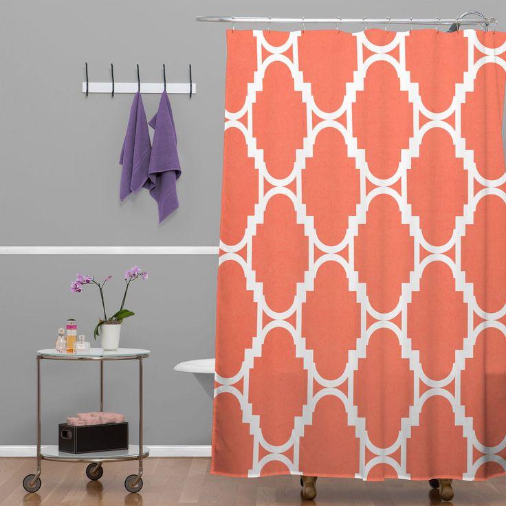 Rebecca Allen Pillow Talk Coral Shower Curtain   DENY Designs Home Accessories