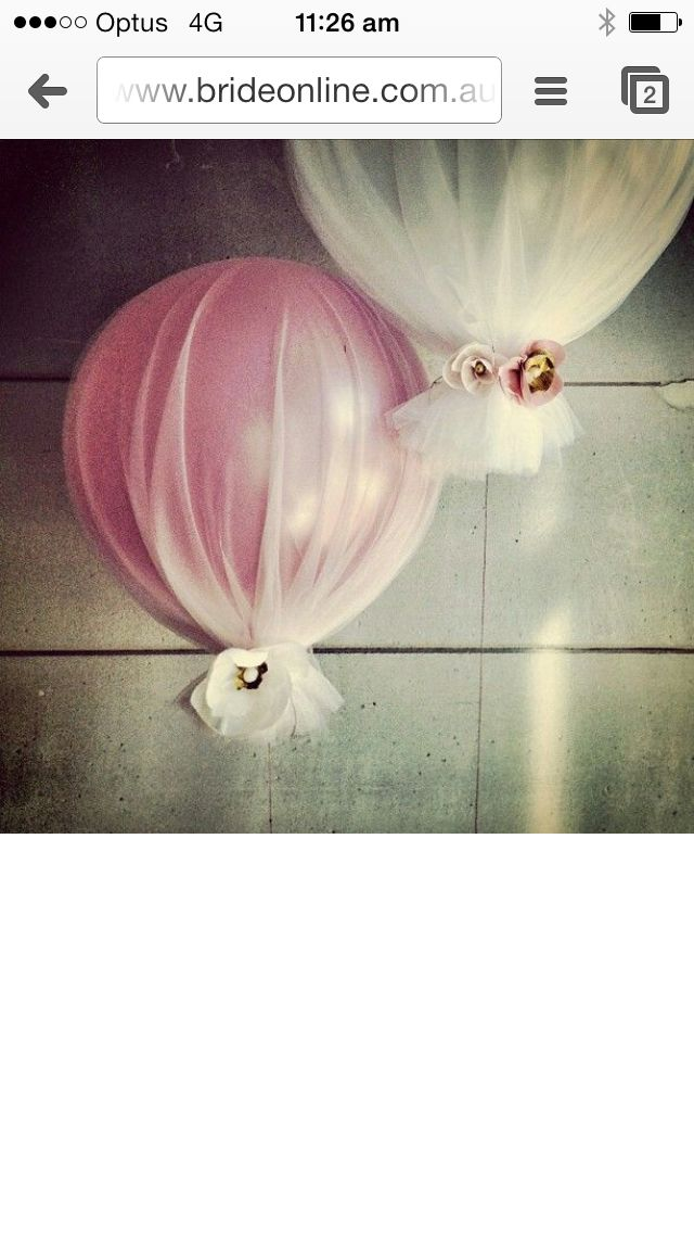 craft ideas homemade bridal shower decoration%0A Baby Dedication Baptism Party  Pink and White Tulle Covered Balloons Decor    Such a pretty idea for a baptism  girls bday  bridal shower or wedding