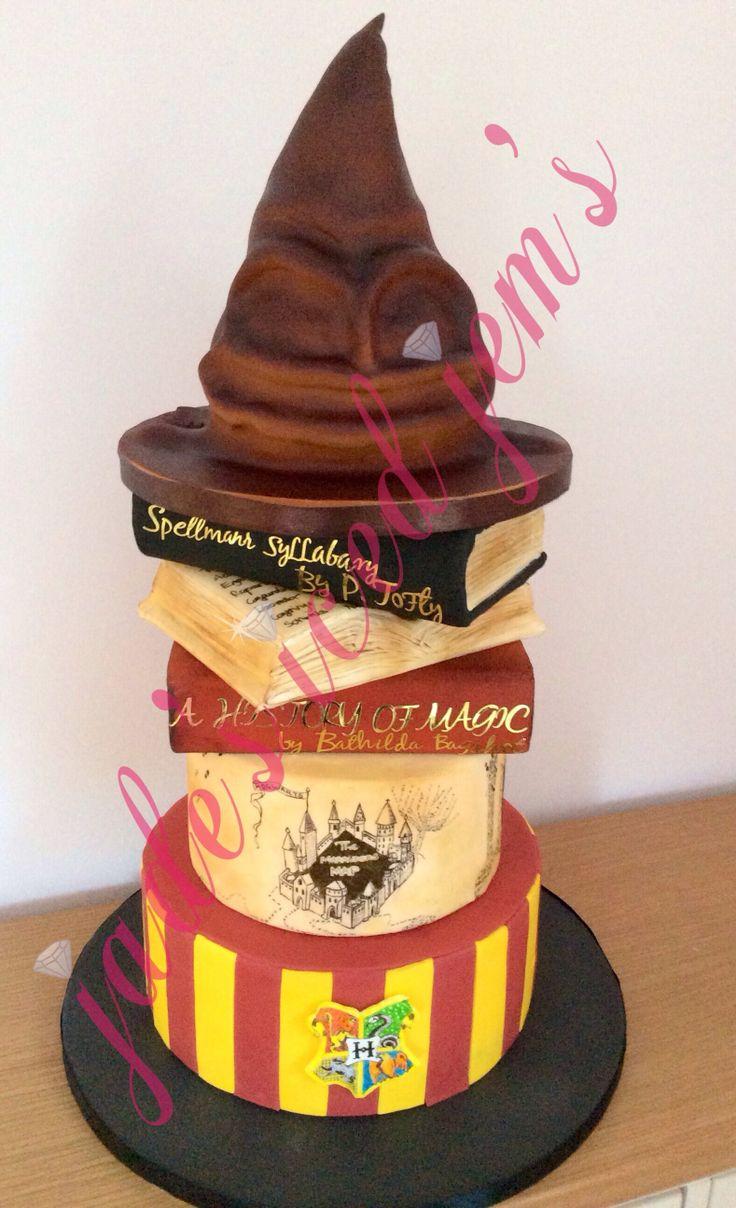 Ultimate Harry Potter Cake Spell Books Cake Marauders Map
