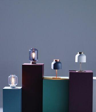 #SS16 News Heals Furniture. Designed by Venessa Eilert. From left C O L U M N low and high, T R I C O T. Cosy table lights.   Frandsen Lighting A/S.
