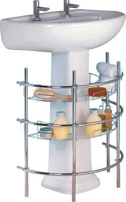 Under Sink Storage Unit - Chrome.   Homebase (£10.71)
