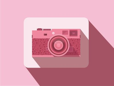Flat Rangefinder Camera Icon
