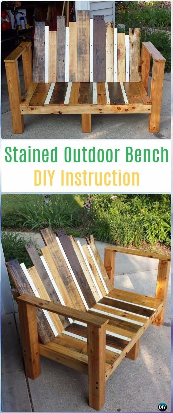 diy stained outdoor bench instructions diy outdoor garden bench rh pinterest com
