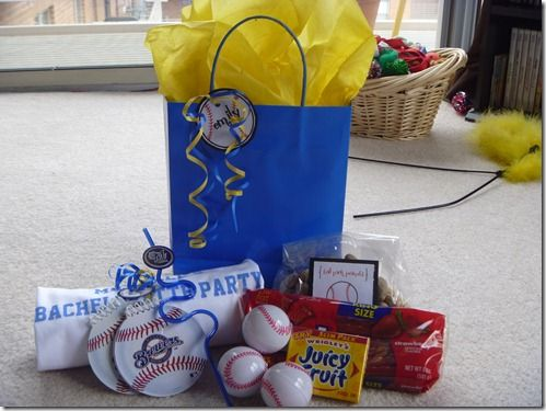 Bachelorette Party GiftBags: PERFECT for the A's game : )