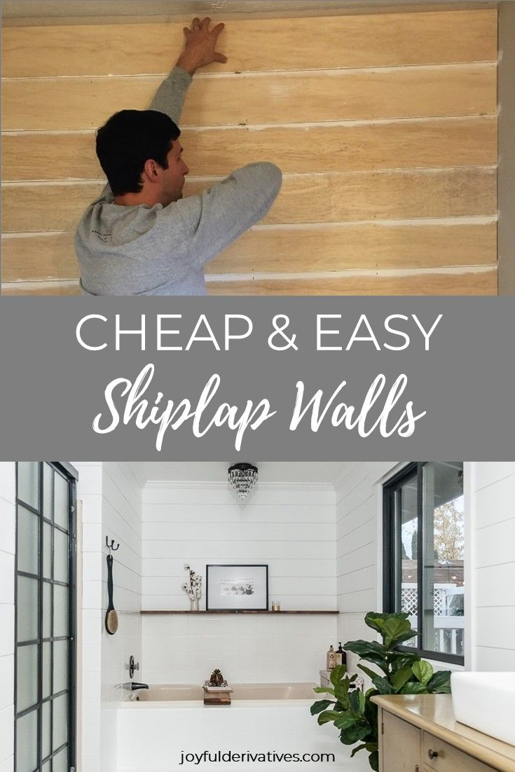 How To Install Shiplap In 4 Simple Steps Shiplap Wall Diy Ship Lap Walls Installing Shiplap