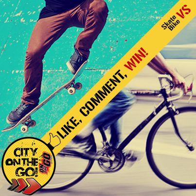 Διαγωνισμός City On The Go! SKATE VS BIKE!Μπες εδώ https://www.facebook.com/FruliteOnTheGo/photos/a.173933972665500.42878.117215025004062/701711083221117/?type=1&theater … και πάρε μέρος... #FruliteOTG #CityOnTheGo