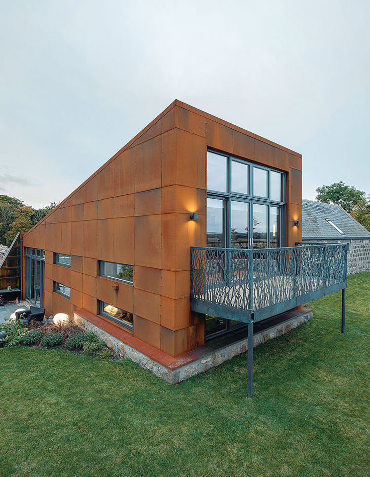 Exterior only  http://www.dwell.com/green/article/farmhouse-cor-ten-steel-clad-dream#8