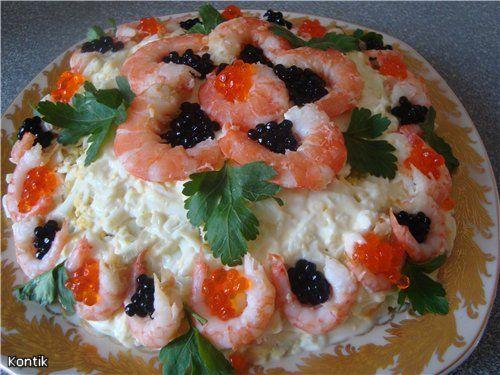 Приготовление салатов для романтического ужина