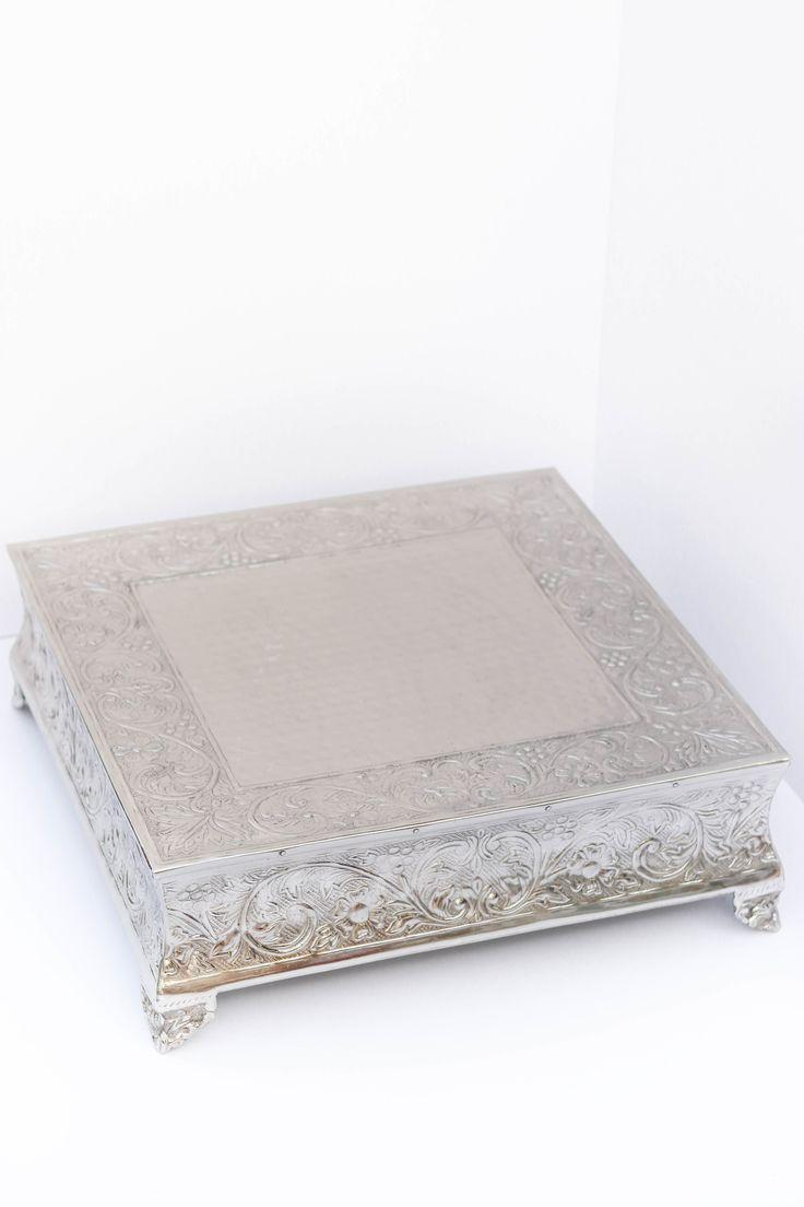 "20"" square cake stand"