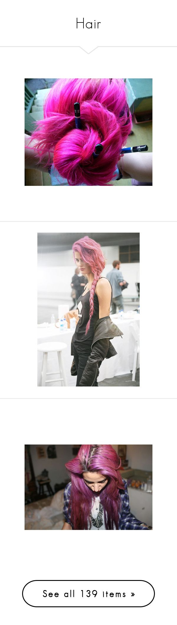 """""""Hair"""" by tobuildcastlesinthesky ❤ liked on Polyvore featuring hair, people, pink hair, hairstyles, models, pictures, girls, taylor momsen, gossip girl and accessories"""