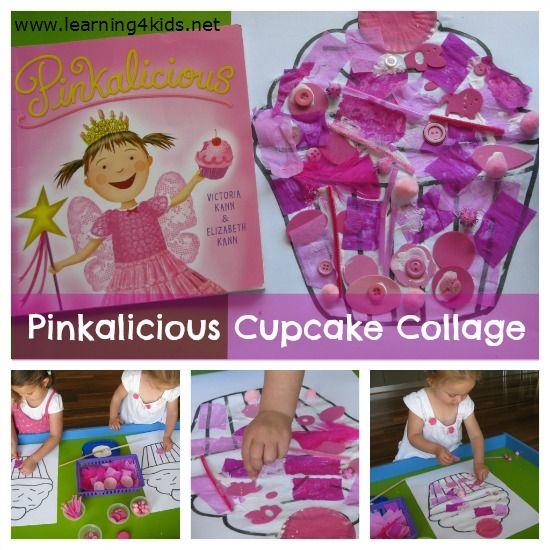 Pinkalicious Cupcake Collage. How awesome!  @Heidi Panchartek Pinkerton