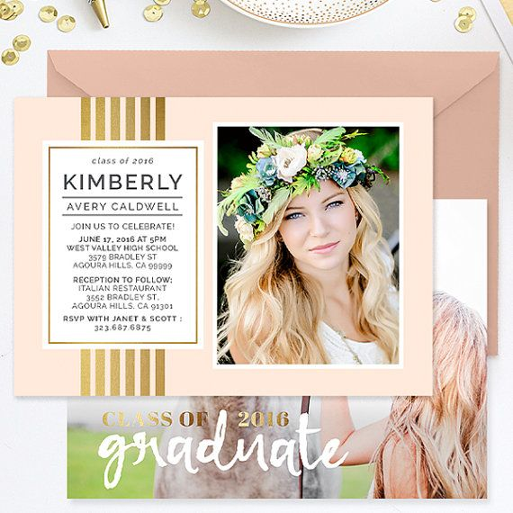 Senior Graduation Announcement Template, Senior Announcement Templates, Senior Templates, Photography Templates, Photoshop Templates - GD141