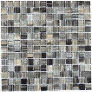 black sea black 3 4 x 3 4 glossy glass tile tile pinterest rh pinterest com
