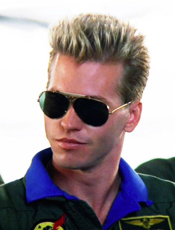 Forget Tom Bloody Cruise it was all about Val Kilmer as Iceman in Top Gun .