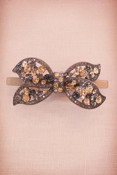Hair Accessories Light Rose Pink Crystal Butterfly Double Hair B & OXN1pXB