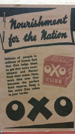 Old Oxo advert on the Tube