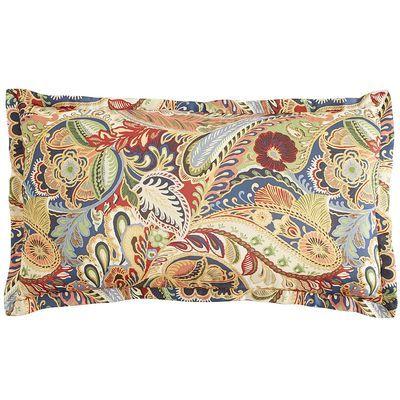 Vibrant Paisley King Pillow Sham | Pier 1 Imports