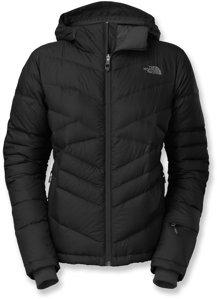 The stylish water-resistant, women's Destiny Down insulated jacket by The North Face keeps you warm on the slopes.